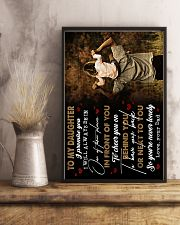 To Daughter - I Promise You I will Always 16x24 Poster lifestyle-poster-3