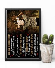 To Daughter - I Promise You I will Always 16x24 Poster lifestyle-poster-8