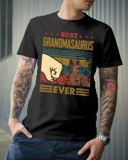 GRANDMASAURUS - DINOSAUR - VINTAGE Classic T-Shirt lifestyle-mens-crewneck-front-6
