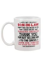 MOM TO SON IN LAW Mug back