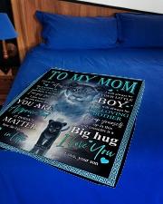 "To My Mom - Lioness - Fleece Blanket Small Fleece Blanket - 30"" x 40"" aos-coral-fleece-blanket-30x40-lifestyle-front-02"