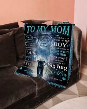 "To My Mom - Lioness - Fleece Blanket Small Fleece Blanket - 30"" x 40"" aos-coral-fleece-blanket-30x40-lifestyle-front-05"