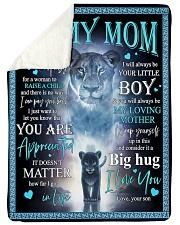 To My Mom - Lioness - Fleece Blanket Sherpa Fleece Blanket tile