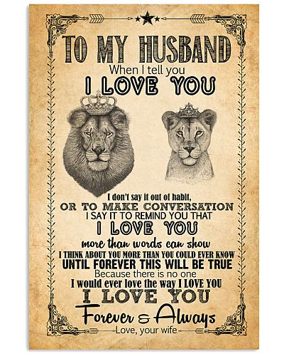 TO MY HUSBAND - LION - I LOVE YOU