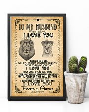 TO MY HUSBAND - LION - I LOVE YOU 16x24 Poster lifestyle-poster-8