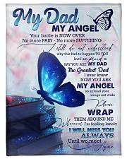 """FLEECE BLANKET - TO MY ANGEL DAD  Small Fleece Blanket - 30"""" x 40"""" front"""