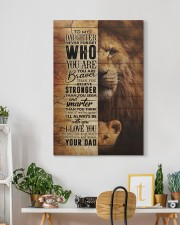 To My Daughter - Lion - Never Forget Who You Are  20x30 Gallery Wrapped Canvas Prints aos-canvas-pgw-20x30-lifestyle-front-03