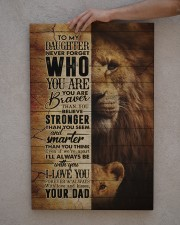 To My Daughter - Lion - Never Forget Who You Are  20x30 Gallery Wrapped Canvas Prints aos-canvas-pgw-20x30-lifestyle-front-29