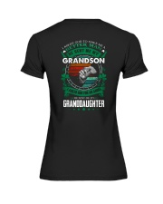 GRANDPA - CLOVERS - MY SON AND MY DAUGHTER Premium Fit Ladies Tee thumbnail