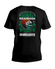 GRANDPA - CLOVERS - MY SON AND MY DAUGHTER V-Neck T-Shirt thumbnail