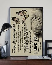 To Granddaughter - God Sent You Into My Life 16x24 Poster lifestyle-poster-2