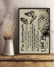 To Granddaughter - God Sent You Into My Life 16x24 Poster lifestyle-poster-3