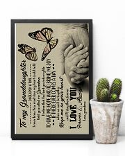 To Granddaughter - God Sent You Into My Life 16x24 Poster lifestyle-poster-8