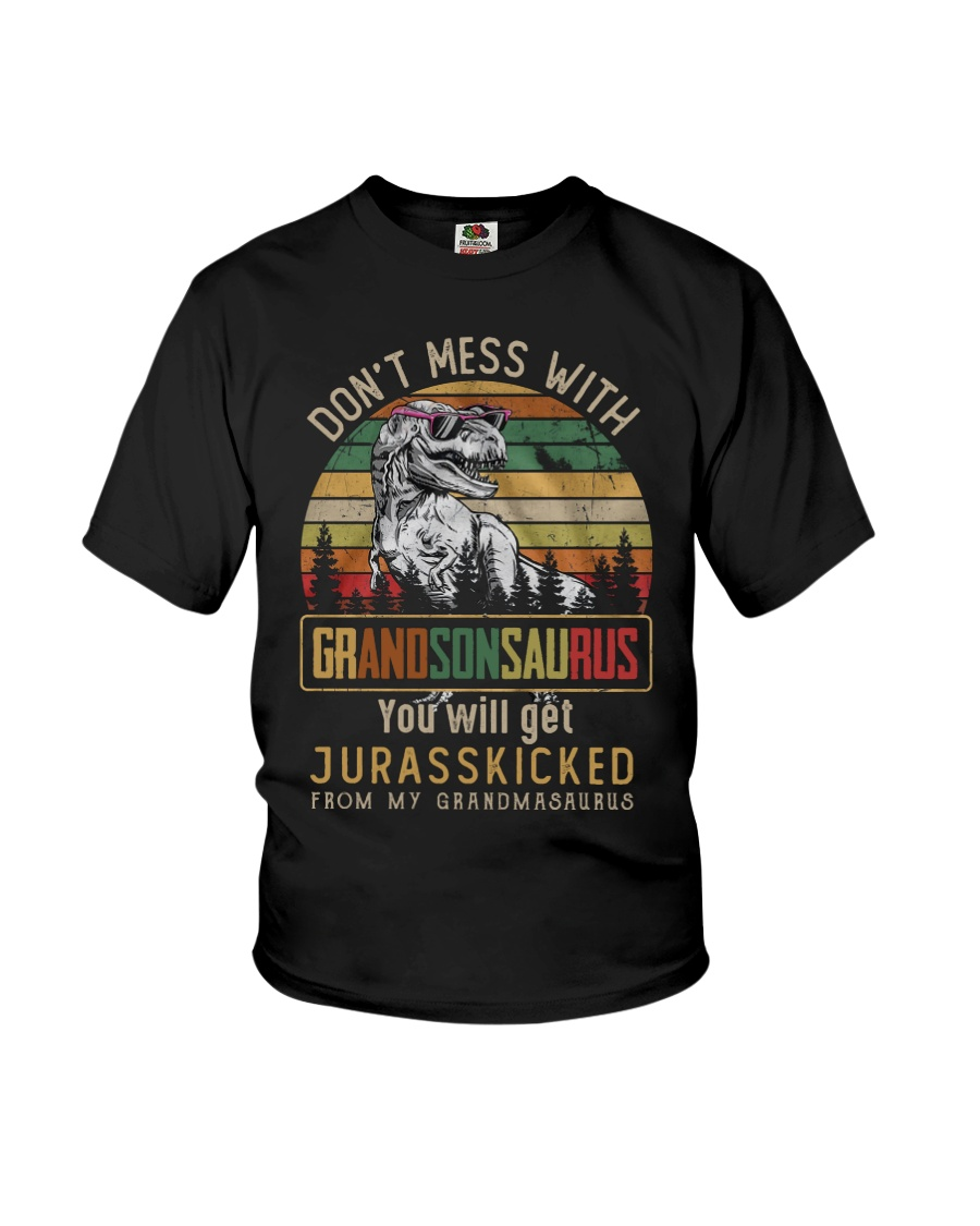 TO MY GRANDSON - T REX - DON'T MESS WITH Youth T-Shirt