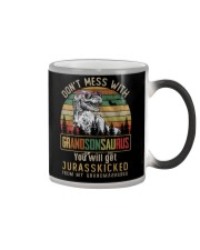 TO MY GRANDSON - T REX - DON'T MESS WITH Color Changing Mug thumbnail