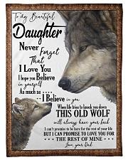 DAD TO DAUGHTER Fleece Blanket tile