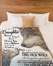 """DAD TO DAUGHTER Large Fleece Blanket - 60"""" x 80"""" aos-coral-fleece-blanket-60x80-lifestyle-front-02"""