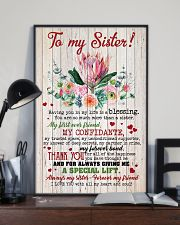 TO MY SISTER - SUNFLOWERS - I LOVE YOU 16x24 Poster lifestyle-poster-2