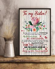 TO MY SISTER - SUNFLOWERS - I LOVE YOU 16x24 Poster lifestyle-poster-3