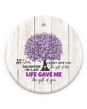 To My Daughter-in-law - Tree - Gift of Life Circle ornament - single (porcelain) front