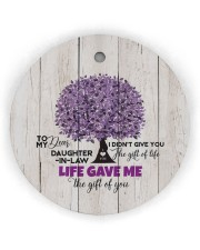 To My Daughter-in-law - Tree - Gift of Life Circle ornament - single (wood) thumbnail