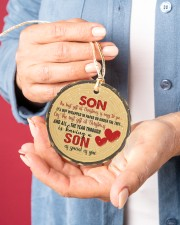 Christmas - Son - The Best Gift At Christmas Circle ornament - single (porcelain) aos-circle-ornament-single-porcelain-lifestyles-01