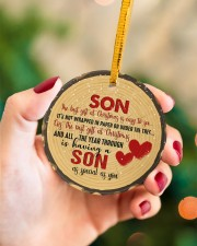 Christmas - Son - The Best Gift At Christmas Circle ornament - single (porcelain) aos-circle-ornament-single-porcelain-lifestyles-09