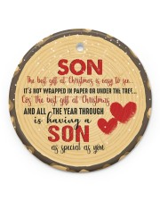 Christmas - Son - The Best Gift At Christmas Circle ornament - single (porcelain) front