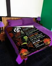 """To My Mom - Halloween - Fleece Blanket Large Fleece Blanket - 60"""" x 80"""" aos-coral-fleece-blanket-60x80-lifestyle-front-01"""
