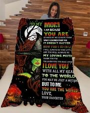 """To My Mom - Halloween - Fleece Blanket Large Fleece Blanket - 60"""" x 80"""" aos-coral-fleece-blanket-60x80-lifestyle-front-04"""