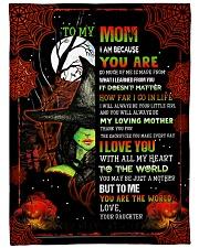 "To My Mom - Halloween - Fleece Blanket Large Fleece Blanket - 60"" x 80"" front"