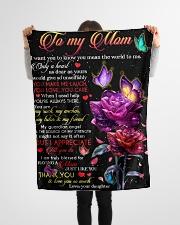 "FLEECE BLANKET - TO MY MOM - THANK YOU Small Fleece Blanket - 30"" x 40"" aos-coral-fleece-blanket-30x40-lifestyle-front-14"