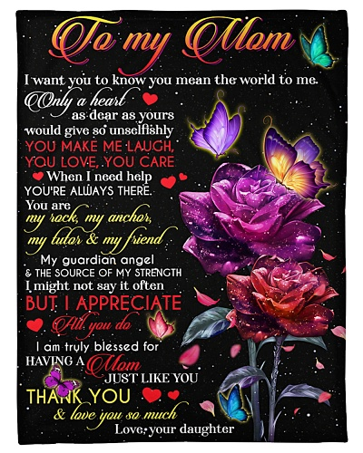 FLEECE BLANKET - TO MY MOM - THANK YOU