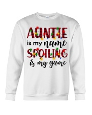 Auntie is my name Spoiling is my game Crewneck Sweatshirt thumbnail