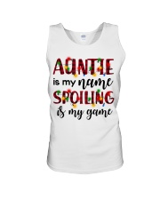 Auntie is my name Spoiling is my game Unisex Tank thumbnail