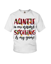 Auntie is my name Spoiling is my game Youth T-Shirt thumbnail
