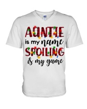 Auntie is my name Spoiling is my game V-Neck T-Shirt thumbnail