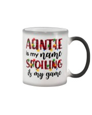 Auntie is my name Spoiling is my game Color Changing Mug thumbnail