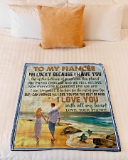 "TO MY FIANCÉE - COUPLES - I LOVE YOU Small Fleece Blanket - 30"" x 40"" aos-coral-fleece-blanket-30x40-lifestyle-front-04"
