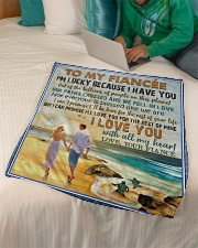 "TO MY FIANCÉE - COUPLES - I LOVE YOU Small Fleece Blanket - 30"" x 40"" aos-coral-fleece-blanket-30x40-lifestyle-front-07"