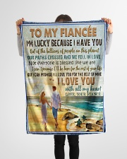"TO MY FIANCÉE - COUPLES - I LOVE YOU Small Fleece Blanket - 30"" x 40"" aos-coral-fleece-blanket-30x40-lifestyle-front-14"