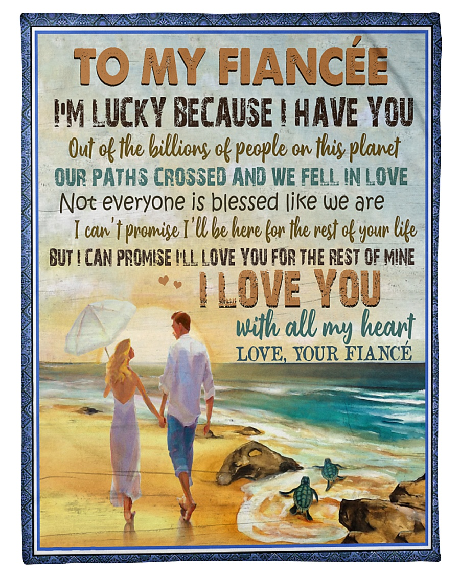 "TO MY FIANCÉE - COUPLES - I LOVE YOU Small Fleece Blanket - 30"" x 40"""
