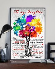 Mom To Daughter Tree - Life Is Filled With Hard  16x24 Poster lifestyle-poster-2