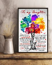 Mom To Daughter Tree - Life Is Filled With Hard  16x24 Poster lifestyle-poster-3