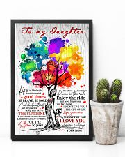 Mom To Daughter Tree - Life Is Filled With Hard  16x24 Poster lifestyle-poster-8
