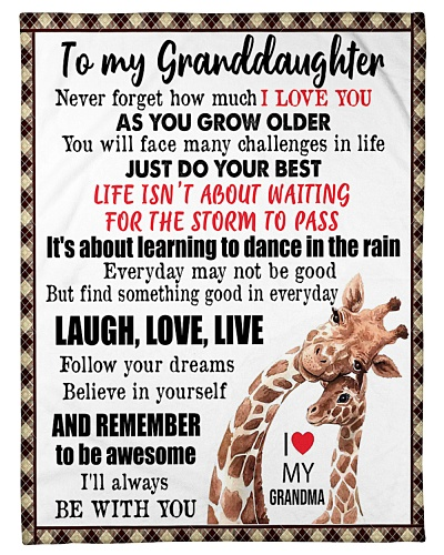 TO MY GRANDDAUGHTER - GIRAFFES
