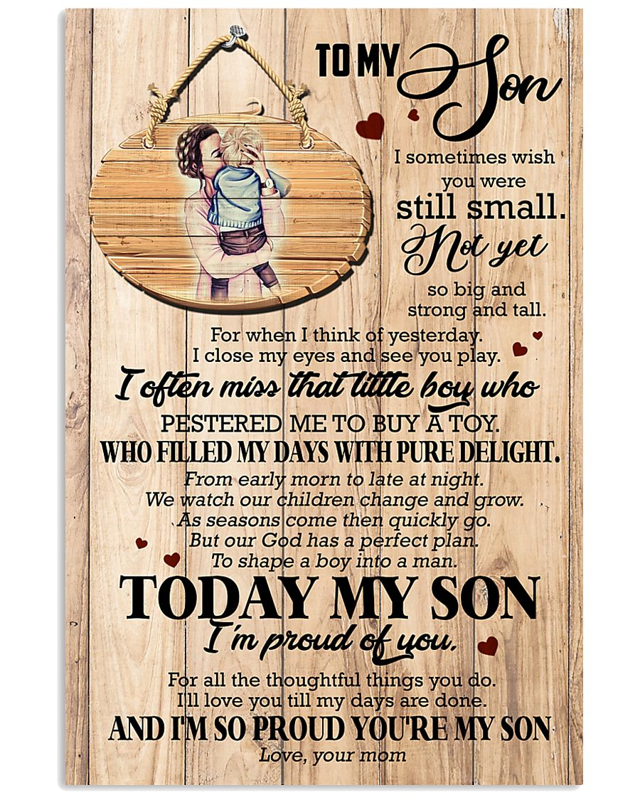 To Son - Hugging - I Sometimes Wish You Were  16x24 Poster