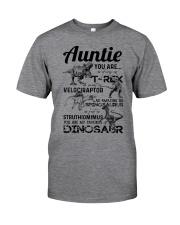 T-SHIRT - AUNTIE - FAVORITE DINOSAUR Classic T-Shirt front
