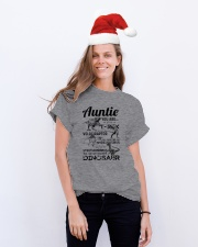 T-SHIRT - AUNTIE - FAVORITE DINOSAUR Classic T-Shirt lifestyle-holiday-crewneck-front-1