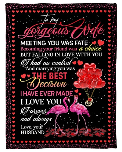 TO MY WIFE - FLAMINGO - I LOVE YOU